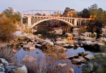 Rainbow Bridge in Folsom California