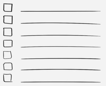 To do list icon with hand drawn text. Checklist, task list vecto