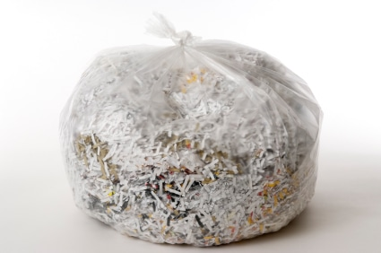 Bag of Purge Shredded Files
